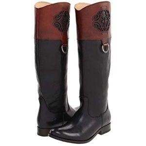 Frye Boots Melissa Logo Black/Brown